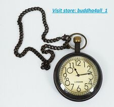 Battery Powered Hand Made Stylist London Pocket Watch