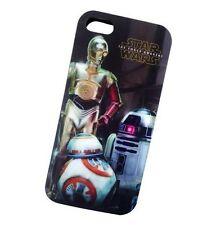 STAR Wars 3 droidi BB-8 C-3PO R2-D2 iPhone 5 5 S Custodia Pelle Cover-Regalo Inscatolato!