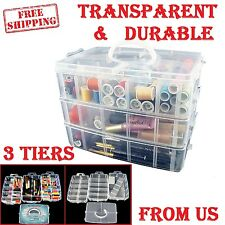 Nail Polish Holder Case Bins Things Stackable Storage 30 Adjustable Compartments