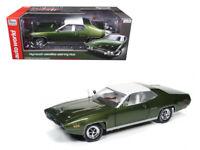 Autoworld 1:18 1971 Plymouth Satellite Sebring Plus Diecast Model Green AMM1092