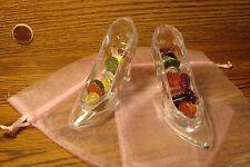 2 Cinderella Princess Acrylic Fillable Slipper Wedding, Quinceanera, Cake Topper