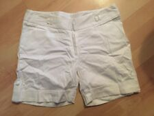 NEW WHITE NEW LOOK SIZE 10 CITY SHORTS TROUSERS SUMMER WORK PARTY BOHO