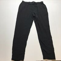 Eileen Fisher Black 100% Silk Elastic Waist Pants Pockets Size Small A13