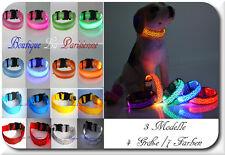 Luminous LED Dog Collar Luminous Band Light Tube Flashing Neck Band M L XL