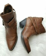 zodiac territory vintage cowgirl cowboy leather ankle boots size 8 (B3)