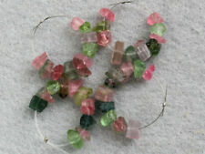 6-7mm. Natural Multi Color Tourmaline Rough Nugget Gemstone Beads