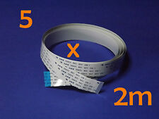 5 X FFC B 15Pin 1.0Pitch 200cm Raspberry Pi Ribbon Cable Kabel Flachbandkabel