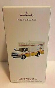 Hallmark Keepsake Christmas Ornament 2012 Chevrolet G4500 Ambulance New in Box