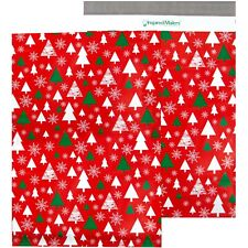Red Winter Forest Printed Poly Mailers 145x19 Pack Of 50