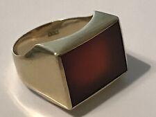 Gold Ring Karneol Carneol 333 5,1 gramm Größe 59