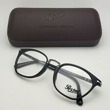 Typewriter Edition PERSOL Rx-able Eyeglasses 3209-V 95 52-21 Black-Silver Frames