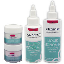 Nailed'It Acrylic Nail Kit Professional W/ Liquid Monomer Arylic Powder Clear
