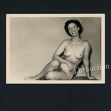 #27 Rössler nudo 13 x 9 NUDE WOMAN study * VINTAGE 50s Studio Photo-no PC