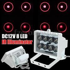 8 LED 12V Night Vision Lamp IR Illuminator Infrared Light for Security Camera HK