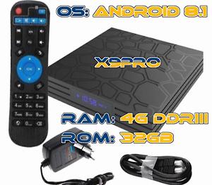 Super Smart TV BOX X9PRO Android 4GB 32GB 4K GPU QUAD CORE WIFI Top Box
