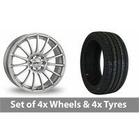 """4 x 16"""" Calibre Rapide Silver Alloy Wheel Rims and Tyres -  205/45/16"""
