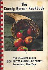 *TONAWANDA NY 1979 KOENIG KORNER KOOKBOOK *ZION UNITED CHURCH OF CHRIST COOKBOOK