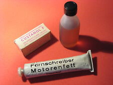 Industrial Oil set kit aceite maquinaria DDR RFT Karl-Marx-Stadt CUSTANOL FG60