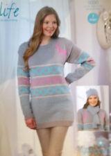 "Stylecraft Christmas DK Knitting pattern Ladies Jumper Hat Scarf 28""- 46"" 9030"