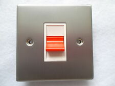 45AMP DP SWITCH COOKER SWITCH HOB SWITCH SHOWER SWITCH IN  MATTE OR SATIN CHROME