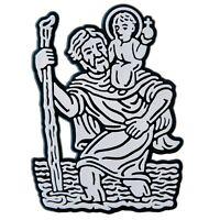 Relief Schild St. Christophorus Aufkleber 6 cm Emblem Christopherus HR Art. 4857