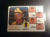 1973 Topps Set Break #12 Padres Manager Don Zimmer Garcia Podres Skinner NrMt NM