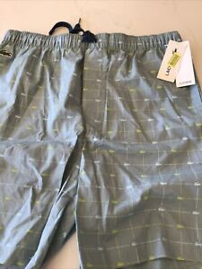 Lacoste Mens Sleepwear Lounge Green Shorts Pajamas L Large NWT