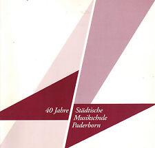 Festschrift 40 J. Städtische Musikschule Paderborn, Paderborner Musik-Ausbildung