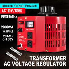 Variac Transformer Variable AC Voltage Regulator 2000VA 2KVA US Plug 0~130V