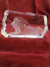 FLAWLESS Exceptional Ice Sculpture MATS JONASSON Art Glass Crystal LION KING