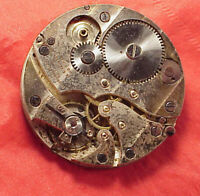 Vintage 44mm lemania 8 day small travel movement partial parts repairs