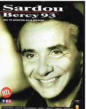 Publicité Advertising 1992 Concert Michel Sardou avec radio RTL