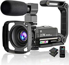 Videokamera 2.7K Camcorder UHD 36MP Vlogging Kamera FüR YouTube IR Nachtsicht