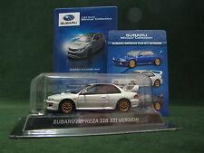 "Kyosho SUBARU IMPREZA 22B STI Version ""White"" 1:64 Minicar Collection From Japan"