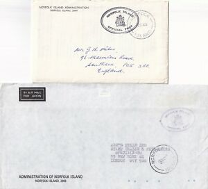 BBB771 Norfolk Island 5 different Admin covers - 1963-1988