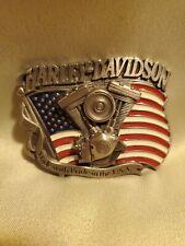 Harley Davidson Belt buckle V-Twin Made In USA 1991 Baron H401