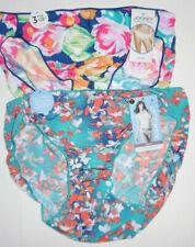 2 Jockey Bikini Panty Set 1370 Logo No Line Tactel Blue Pink Multicolor 7 L NWT