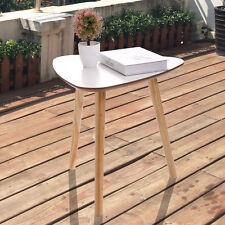 Three Legs Modern Coffee End Side Table Pine Wood Tea Table White