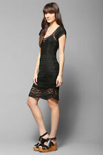 ((1))Lovers + Friends Claire Crochet Dress in Black SZ XS OR S MSRP$250