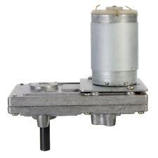 Geared Motor DC 12V-24V 10-20-40-80 RPM Low Noise  Worm Gear Box Motor