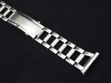 """Mens Vintage Watch Band 16mm 5/8"""" Ratchet Deployment Clasp Stainless Steel NOS"""