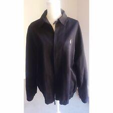 Men's Size XL RALPH LAUREN Fall Varsity Jacket Navy Blue Zipper &Lining