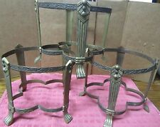 Lot 3 Brass Pillar Candle Holders Stands Ceremony Wicca Decorative Decor
