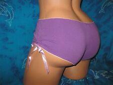 nwt Femina Sexy Plum Purple &  Baby Pink Gathered Sides Boyshorts Panties L