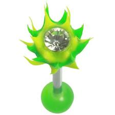 Uv Hellfire Straight Barbell 14G 5/8 Yellow and Green