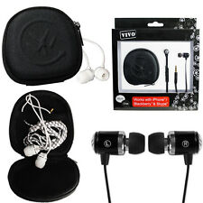 IN EAR EARPHONES NOISE ISOLATING MIC HEADPHONES CASE MP3 IPOD IPHONE VOLUME NEW