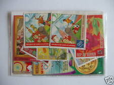 ***TIMBRES GUINEE EQUATORIALE : 50 TIMBRES TOUS DIFFERENTS ***
