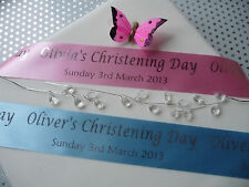 PERSONALISED CHRISTENING RIBBON 45mm width for cake gifts decoration etc