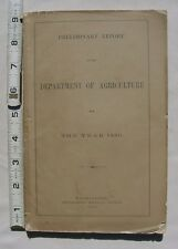 Preliminary Report Of The Department Of Agriculture For The Year 1880