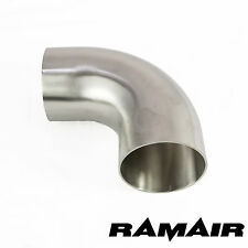 "3"" Inch 76mm 90 Degree Mandrel Bend 304 Stainless Steel Elbow Exhaust Manifold"